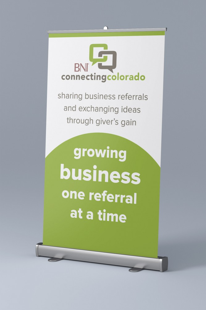 Stand up Retractable banner for BNI Connecting Colorado