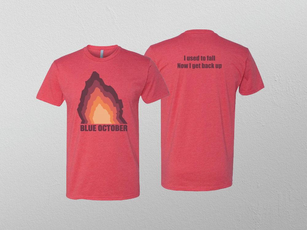 Blue October Red T-shirt design