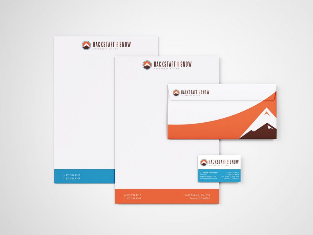 Hackstaff and Snow Letterhead, envelop and business card design