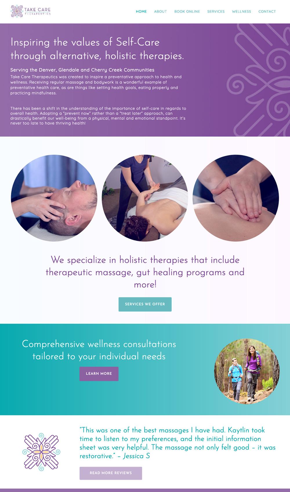 Take Care Therapeutics website homepage screenshot