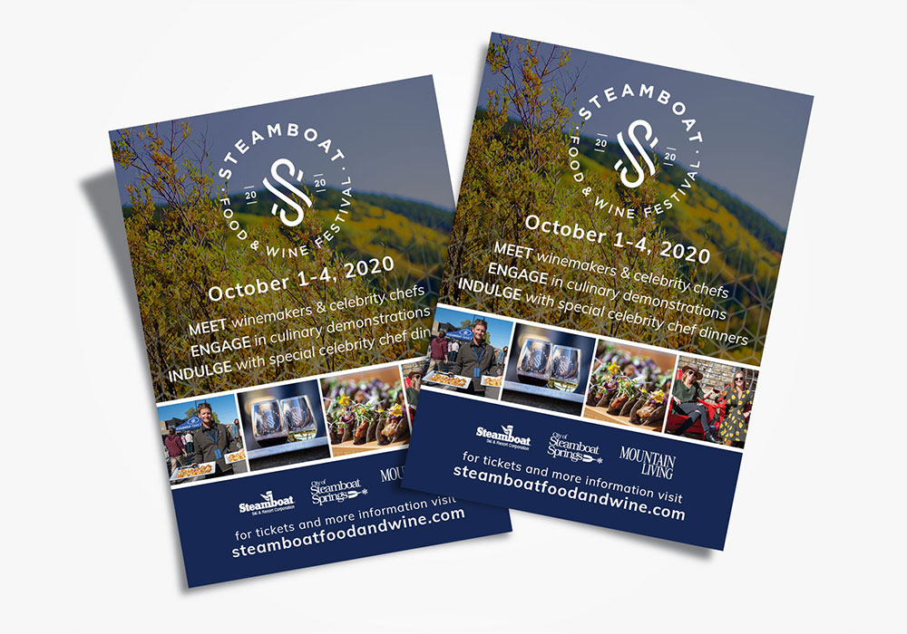 Flier for the Steamboat Food and Wine Festival