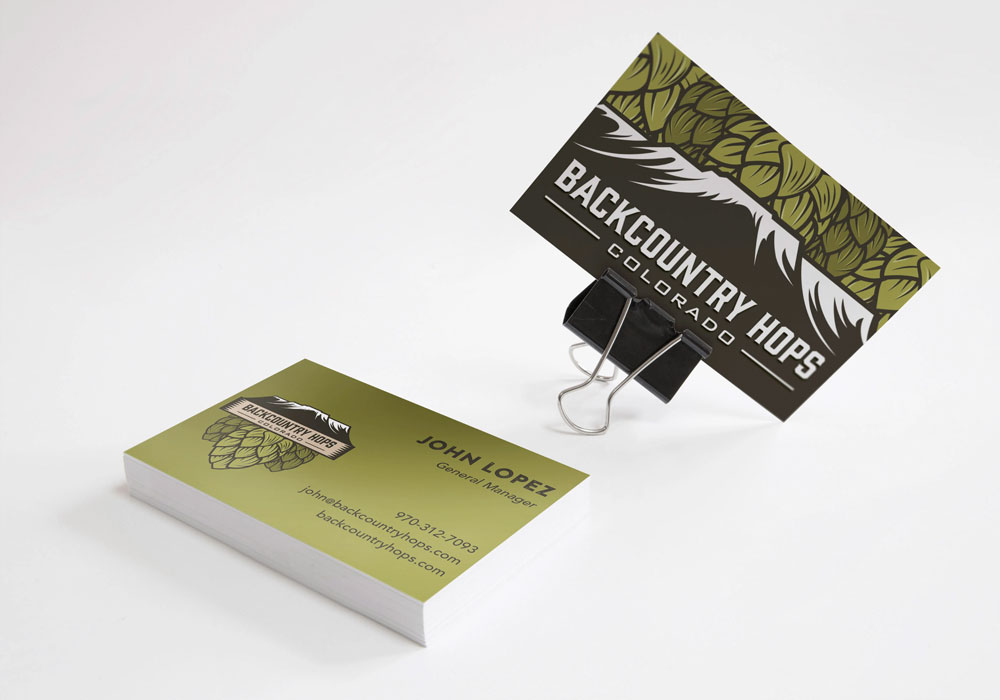 Backcountry Hops business cards