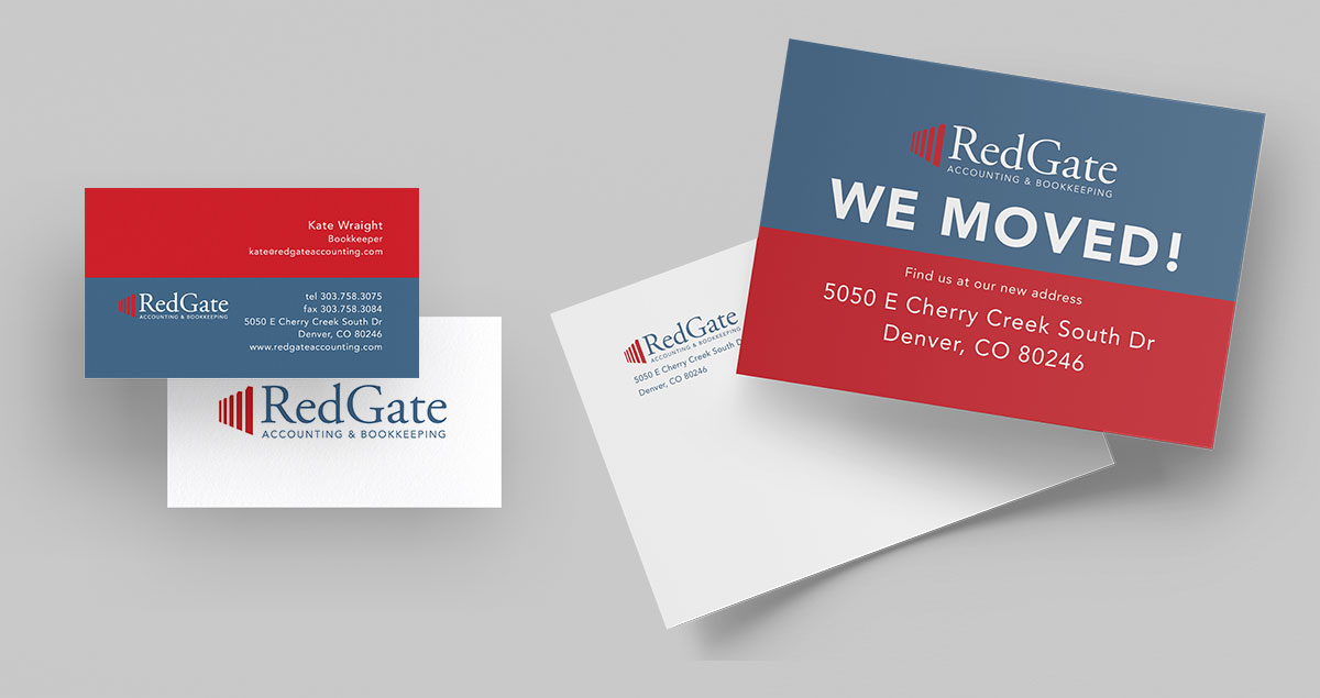 RedGate Accounting Business Card and Postcard Design