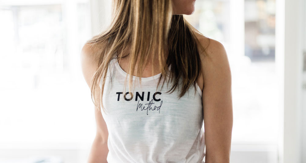 Tonic Method white tank top